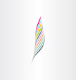 colorful feather icon clip art vector image