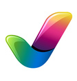 colorful positive checkmark vector image