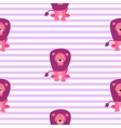 Cute lion seamless pattern vector image vector image
