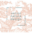 design nature nude vector image