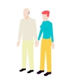 Different ages isometric couple vector image vector image