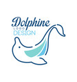 dolphine logo template nautical design element in vector image
