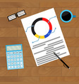 finance flowchart on workplace vector image vector image