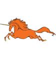 fire unicorn vector image