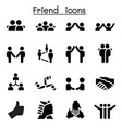 friend relationship icons vector image vector image