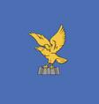 friuli-venezia giulia flag vector image vector image