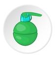 Grenade icon cartoon style vector image vector image