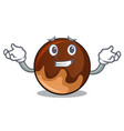 grinning chocolate donut character cartoon vector image
