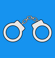 handcuffs icons vector image