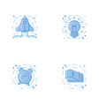 icons with rocket bulb alarm clock and cash vector image