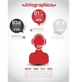 INFOGRAPHIC MODERN STYLE WEB ELEMENT RANKING 2 vector image vector image