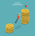 isometric flat concept of business vector image vector image