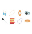 jewelry and accessories icons in set collection vector image