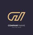 letter g m logo vector image vector image