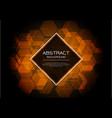 luxury orange hexagon pattern on black vector image