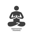 mdeitation training glyph icon vector image vector image