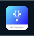 microphone multimedia record song mobile app vector image vector image