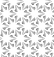 Monochrome three pedal brushed flowers vector image vector image