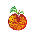 Pattern apple vector image vector image