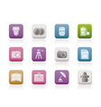 photography equipment icons vector image vector image