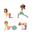Pregnant woman character sport vector image vector image