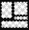 puzzle piece set puzle seamless vector image vector image