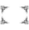 retro decorative frame in vintage style art deco vector image