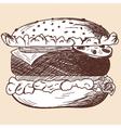 School props hamburger vector image