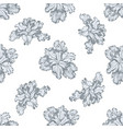 seamless pattern with hand drawn pastel iris vector image vector image
