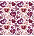 Seamless valentine pattern with colorful vintage vector image vector image