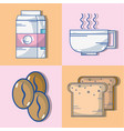 set delicious coffee with different taste vector image vector image