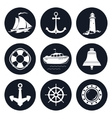 Set of Round Marine Icons vector image vector image