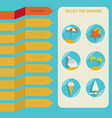 set of summer elements summer holidays concept vector image vector image