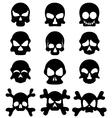Skull symbol set vector image
