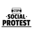social protest logo simple black style vector image vector image