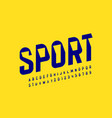 sport style font design modern sports alphabet vector image vector image