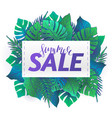 summer party jungle flyer vector image vector image