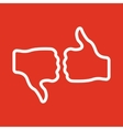 The voting icon Vote and like symbol Flat vector image