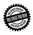 This Space For Rent rubber stamp vector image