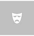 tragedy mask computer symbol vector image vector image
