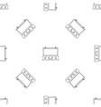 travel case pattern seamless vector image vector image