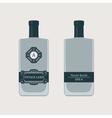 Vintage bottle label vector image
