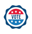 vote word in lace usa elections flat style icon vector image vector image