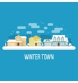 Winter town landscape vector image vector image