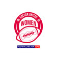 women football logo template design vector image vector image
