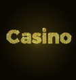 word casino of gold mosaic vector image vector image