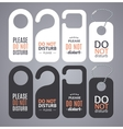 Do Not Disturb Sign Labels vector image