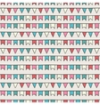 Hand drawn seamless pattern with bunting vector image