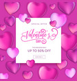 3d colorful hearts for happy valentines day card vector image vector image