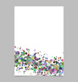 abstract blank wavy confetti poster background vector image vector image